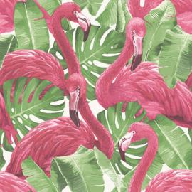 Noordwand Global Fusion Flamingo's behang G56406