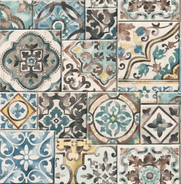 Dutch Reclaimed behang FD22315 Marrakesh Tiles