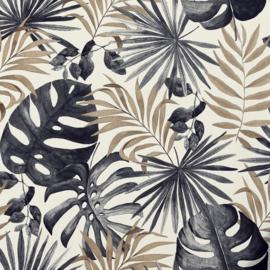 Arthouse behang Jungle Wall Black & Gold 297105