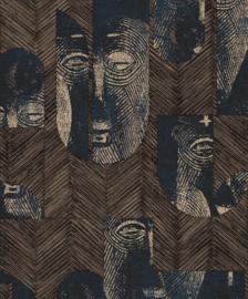 Khrôma Tribute behang Mask Slate TRI301