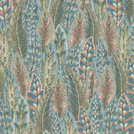 Dutch First Class Amazonia behang Amherts Coral Blue 91302