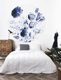 KEK Amsterdam Flora & Fauna behangcirkel Royal Blue Flowers CK-002