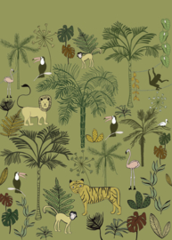 Rasch Bambino XVIII by studio Claas Wandpaneel Jungle 842142