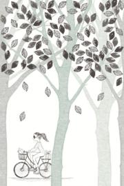 Eijffinger Wallpower Junior 364133 Bike, Leaf, Tree