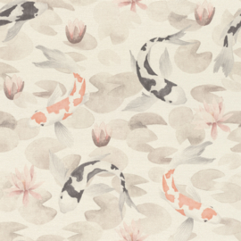 Rasch Kimono behang Koi in the Lily Pond 409420