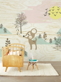 Eijffinger Tout Petit Wallpower 354157 Bambi in the Woods