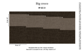 Élitis Anguille Big Croco Galuchat Big Croco behang VP 42331