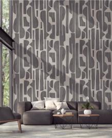 Eijffinger Bold Wallpower 395896 Tapestry Black Linen