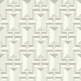 York Wallcoverings Ashford Whites behang SW7469 Facet Geo