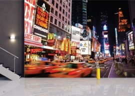 AG Design Fotobehang Yellow Cabs at Times Square FTS1308