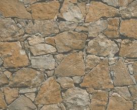 AS Creation Dekora Natur behang 95863-1 Steen