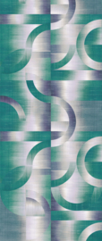 Khrôma Prisma behangpaneel Leonardo Teal DGPRI1011