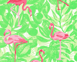 AS Creation Boys and Girls 6 behang  Flamingo 35980-2
