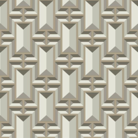 York Wallcoverings Ashford Whites behang SW7470 Facet Geo