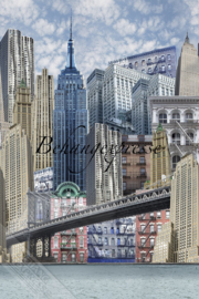 Behangexpresse COLORchoc Wallprint NY Sky INK 6067