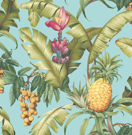 Dutch First Class Maui Maui behang Pineapple Floral TP80004
