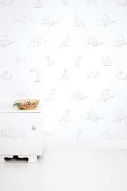 KEK Amsterdam Kids behang Tangram Animal Sketches WP-424