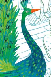 KEK Amsterdam Kids mural Alice Hoogstad Green Peacocks WS-085