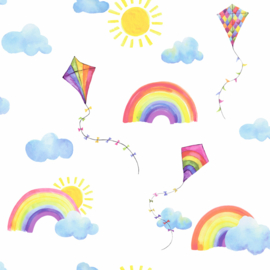 Dutch Over the Rainbow behang Rainbows and Flying Kites 91020