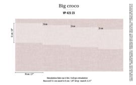 Élitis Anguille Big Croco Galuchat Big Croco behang VP 42323