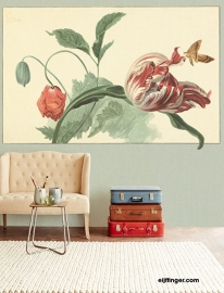 Eijffinger Masterpiece Wallpower 358119 Tulip and Poppy sage