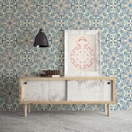 Dutch Restored Florentine Tile behang 24046