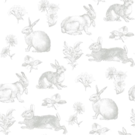 York Wallcoverings A Perfect World behang KI 0580 Bunny Toile