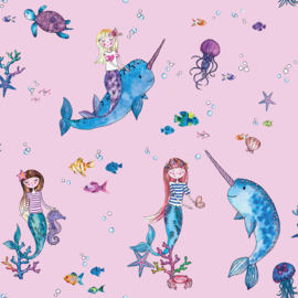 Dutch Over the Rainbow behang Narwhals and Mermaid 91010