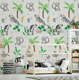 Behangexpresse Morris & Mila Wallprint Jungle INK 7272