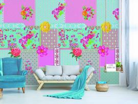 Behangexpresse Happy Living Wallprint Zoë Aqua TD4017