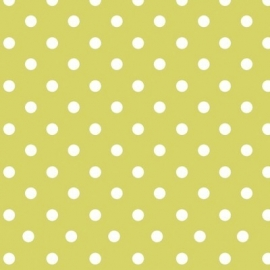 Plakplastic Lola Polka Dot Lime 45CM breed x 3M