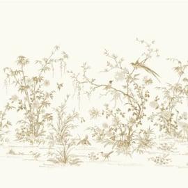 York Wallcoverings Ronald Redding 24 Karat Wall Mural Flowering Vine Chinoiserie KT2262M