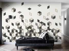 BN Cubiq Mural Faling Cube 200452