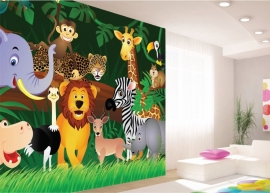 AG Design Fotobehang Jungle Safari FTS1307
