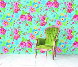 Behangexpresse Happy Living Wallprint Rosita Aqua TD4041