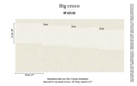 Élitis Anguille Big Croco Galuchat Big Croco behang VP 42302
