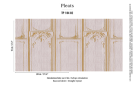 Élitis Pleats behang La Belle et la Bête TP 18402