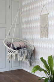 Esta Home Boho Chic Wieber ruit behang 148680