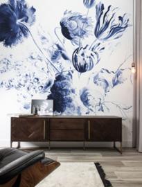 KEK Amsterdam Flora & Fauna behang Royal Blue Flowers WP-218