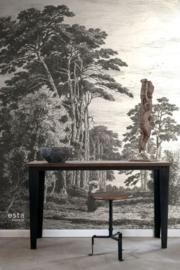 Esta Home Blush PhotowallXL Pine Trees Engraving 158886