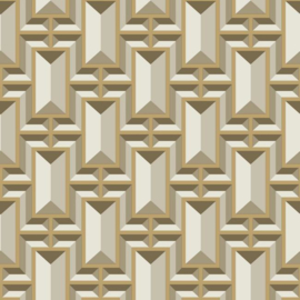 York Wallcoverings Ashford Whites behang SW7471 Facet Geo