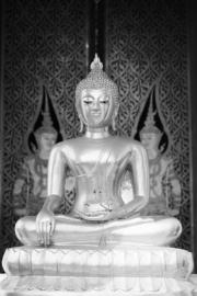 No Limits Fotobehang Buddha silver 30026