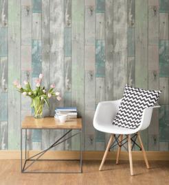 Dutch Restored Distressed Wood behang 20416
