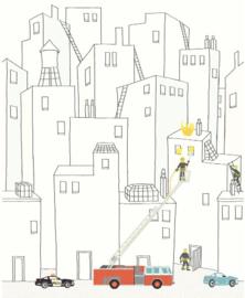 Eijffinger Wallpower Junior 364173 Firemen In The City