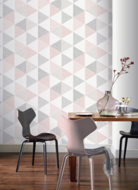 Arthouse Retro House behang Scandi Triangle 908204