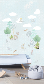 Behangexpresse Kay & Liv Wallprint Forest Friends INK 7046