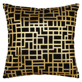 Arthouse Eastern Alchemy kussen Santoni Black & Gold Metallic 004771