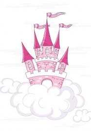 Dutch DigiWalls Olly Fotobehang 13019 Pink Castle
