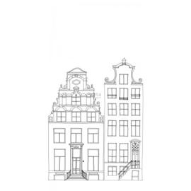 Esta Home Little Bandits PhotowallXL Getekende Amsterdamse Grachtenhuisjes 158833