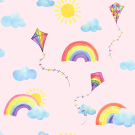 Dutch Over the Rainbow behang Rainbows and Flying Kites 91021